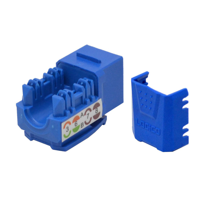 CAT6 Blue Network Ethernet 110 Punchdown 8P8C Keystone Jack (10-100 Pack)