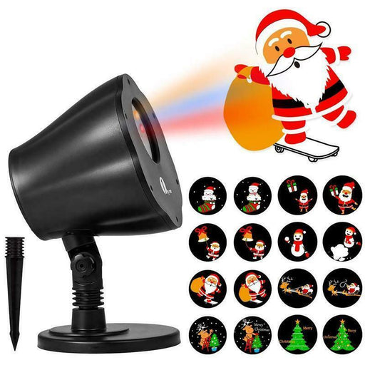 1byone Christmas Decor Outdoor Indoor LED Projector Light 8in1 Auto-Shift Images (4284369993792)