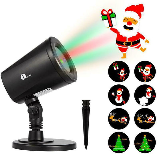 1byone Christmas Decor Outdoor Indoor LED Projector Light 4in1 Auto-Shift Images (4295288815680)