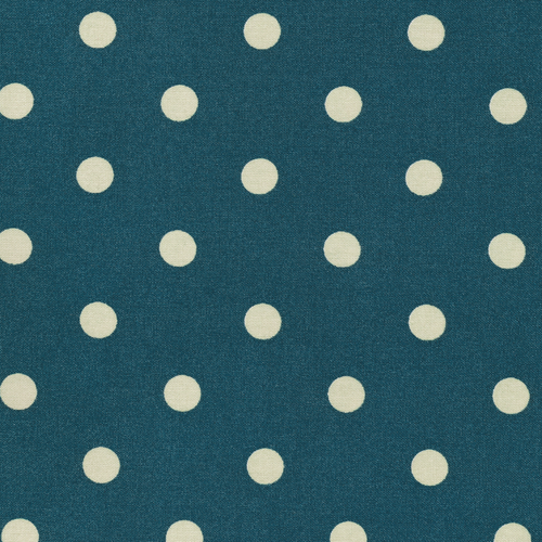 Tecido plastificado - dots big blue
