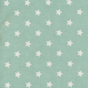 Tecido plastificado - stars dusty mint