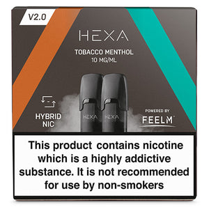 Hexa Tobacco Menthol Hexa V2.0 pod - The Vapour Co.
