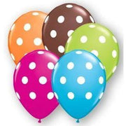 "11"" Autumn Polka Dot Latex Balloons (10) - Party Zone USA"