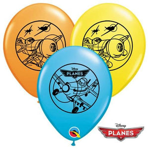 "11"" Disney Planes Assorted Latex Balloons (25) - Party Zone USA"