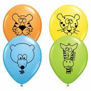 "11"" Jungle Animal Balloons (25) - Party Zone USA"