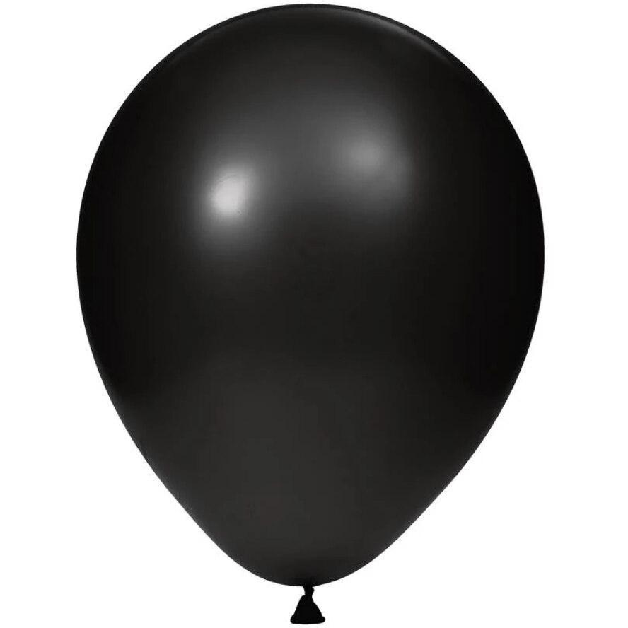 "12"" Black Latex Balloons (15) - Party Zone USA"