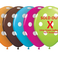 "16"" Autumn Polka Dot Latex Balloons (5) - Party Zone USA"