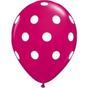 "16"" Wild Berry Polka Dot Balloons (5) - Party Zone USA"
