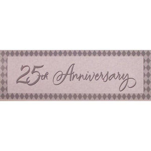 25th Silver Anniversary Banner - Party Zone USA