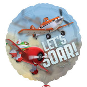"26"" Disney Planes – Let's Soar – See-Thru Balloon - Party Zone USA"