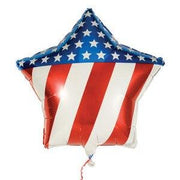 "31"" Patriotic Star Balloon - Party Zone USA"