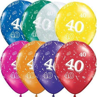 40th Birthday Balloons (25) - Party Zone USA