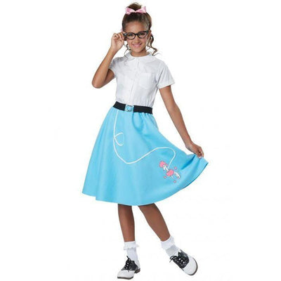 50's Blue Poodle Skirt Child Costume - Party Zone USA