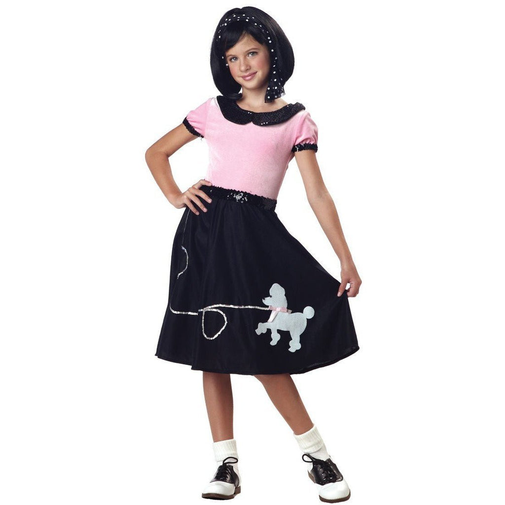 50's Hop w/Poodle Skirt Outfit - Girl's - Party Zone USA
