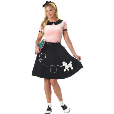 50's Hop w/Poodle Skirt Outfit - Women's - Party Zone USA