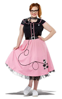 50's Sweetheart Poodle Costume - PLUS Size - Party Zone USA