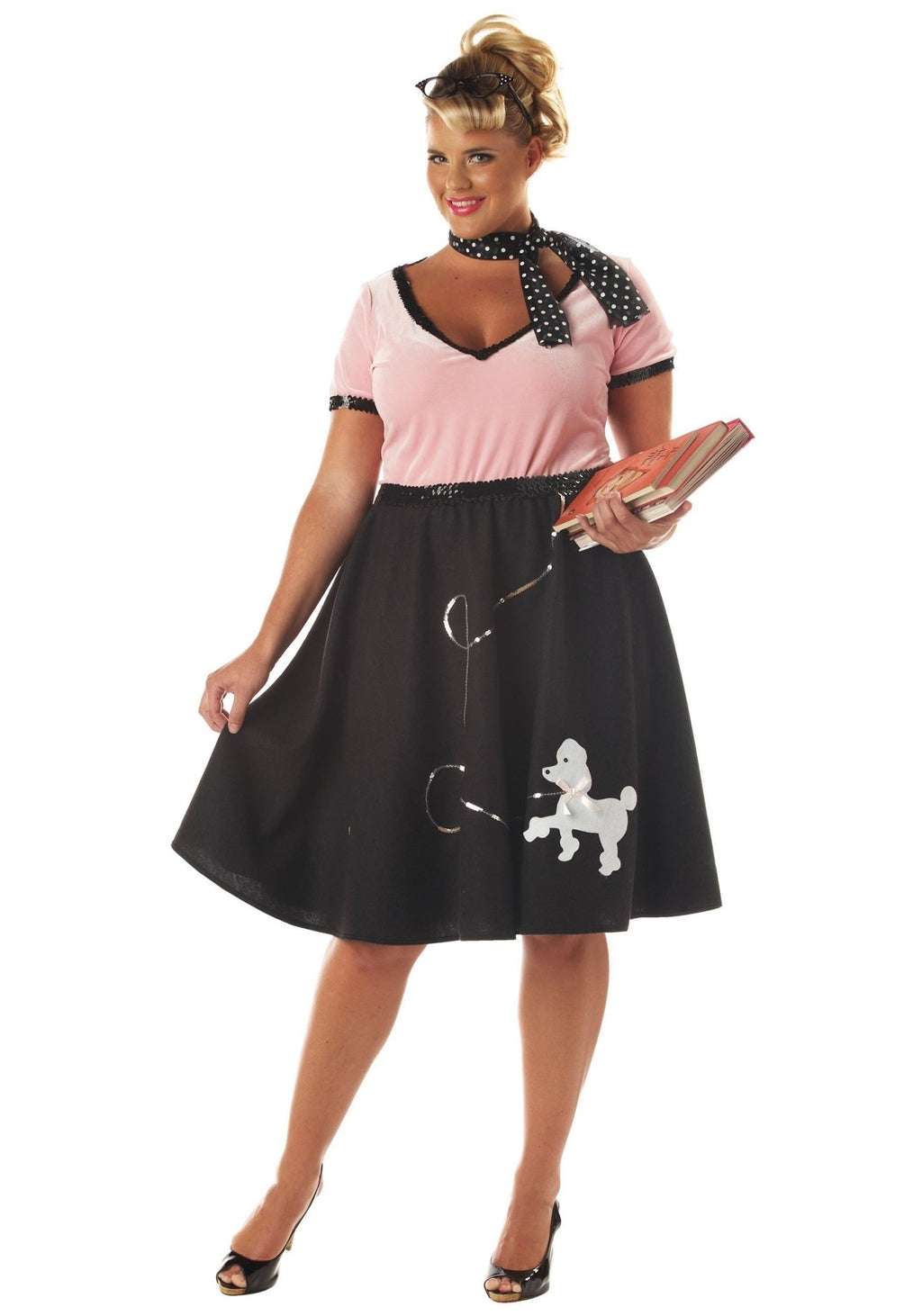 50's Sweetheart Poodle Outfit - PLUS Size - Party Zone USA