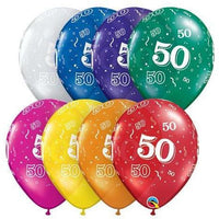 50th Birthday Balloons (25) - Party Zone USA