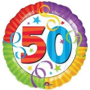 50th Birthday Mylar Balloon - Party Zone USA