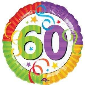 60th Birthday Mylar Balloon - Party Zone USA