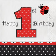 Ladybug Fancy 1st Birthday Lunch Napkins (16)