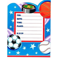 Action Sports Party Invitations - Party Zone USA