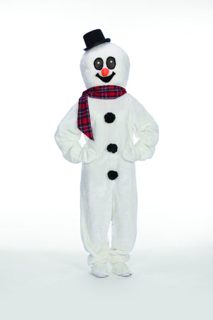 Adult Snowman Suit with Mascot Head - Party Zone USA