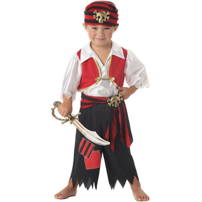 Ahoy Matey Pirate Boy's Costume - Toddler - Party Zone USA