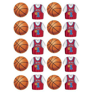 All Star Basketball Party Stickers - Party Zone USA