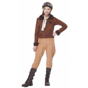 Amelia Earhart Girl's Aviator Costume - Party Zone USA