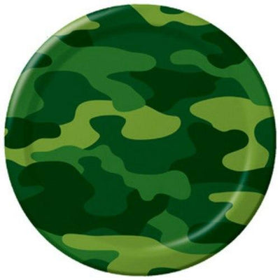 Army Camo Party Dinner Plates (8) - Party Zone USA