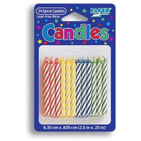 Assorted Primary Color Candles (24) - Party Zone USA