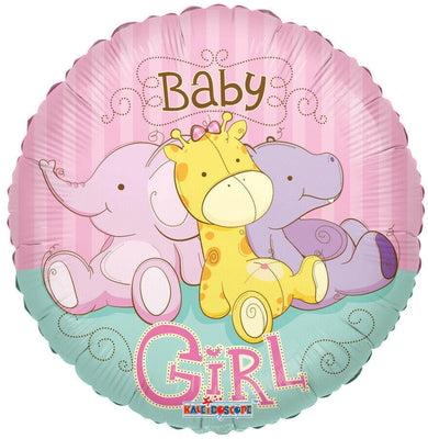Baby Girl Jungle Animals Balloon - Party Zone USA
