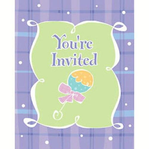 Baby Plaid Shower Invitations - Party Zone USA