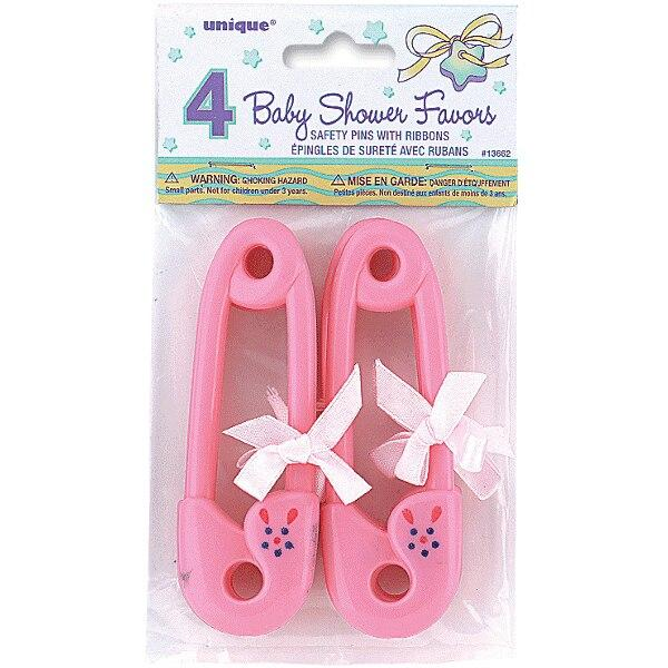 Baby Shower Diaper Pin Party Favors - Pink - Party Zone USA