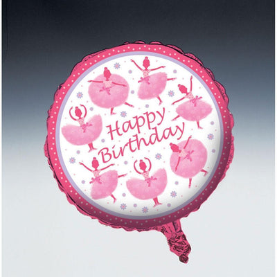 Ballerina TuTu Happy Birthday Balloon - Party Zone USA