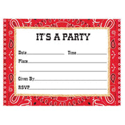 Bandanarama Party Invitations (8) - Party Zone USA