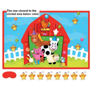 Barnyard Bash Pin Game - Party Zone USA