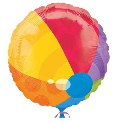 Beach Ball Mylar Balloon - Party Zone USA