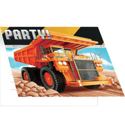 Big Dig Construction Party Invitations (8) - Party Zone USA