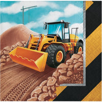 Big Dig Construction Trucks Beverage Napkins (16) - Party Zone USA
