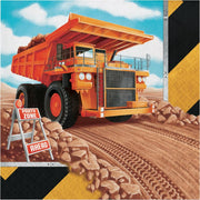 Big Dig Construction Trucks Lunch Napkins (16) - Party Zone USA