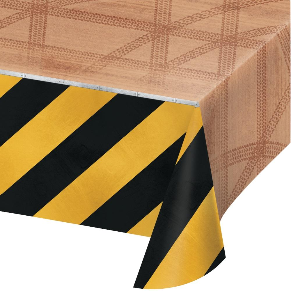 Big Dig Construction Trucks Plastic Tablecover - Party Zone USA