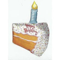 Birthday Cake Shaped Mylar Balloon - Party Zone USA