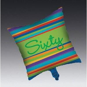 Birthday Stripes Age 60 Mylar Balloon - Party Zone USA