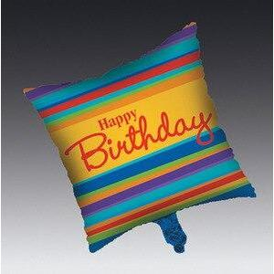Birthday Stripes Happy Birthday Balloon - Party Zone USA