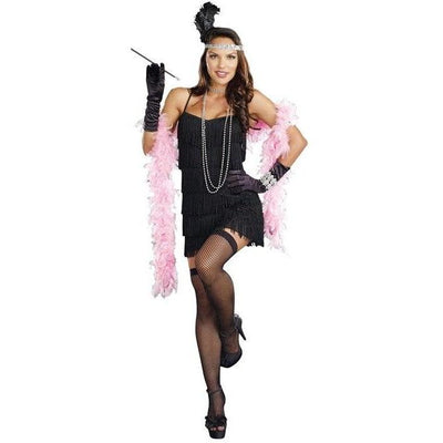 Black Flapper Dress Costume - Women's - Party Zone USA