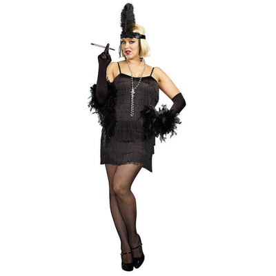 Black Flapper Dress Women's Costume - Plus Size - Party Zone USA