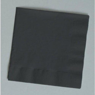 Black Luncheon Napkins (50) - Party Zone USA