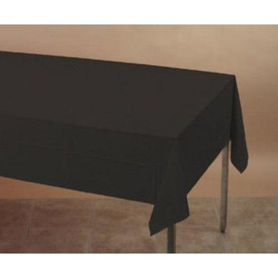 Black Plastic Table Cover - Party Zone USA